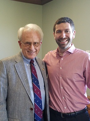 Dr. Fromuth smiling with older man
