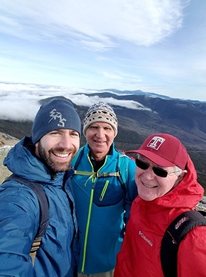 Dr. Fromuth and friends mountain hiking