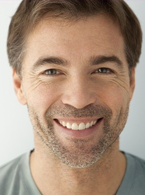 Man with healthy smile